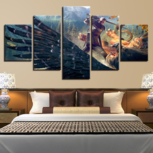 Wall Art Poster Modern Home Decor Living Room 5 Pieces Witcher Game Characters Scene Canvas Print Painting Modular Picture Frame