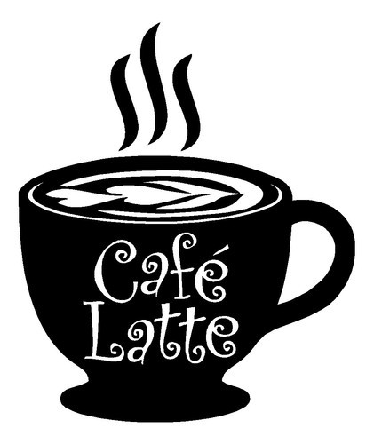 Custom Names Dacals Cafe Latte coffee kitchen wall art vinyl decal ...