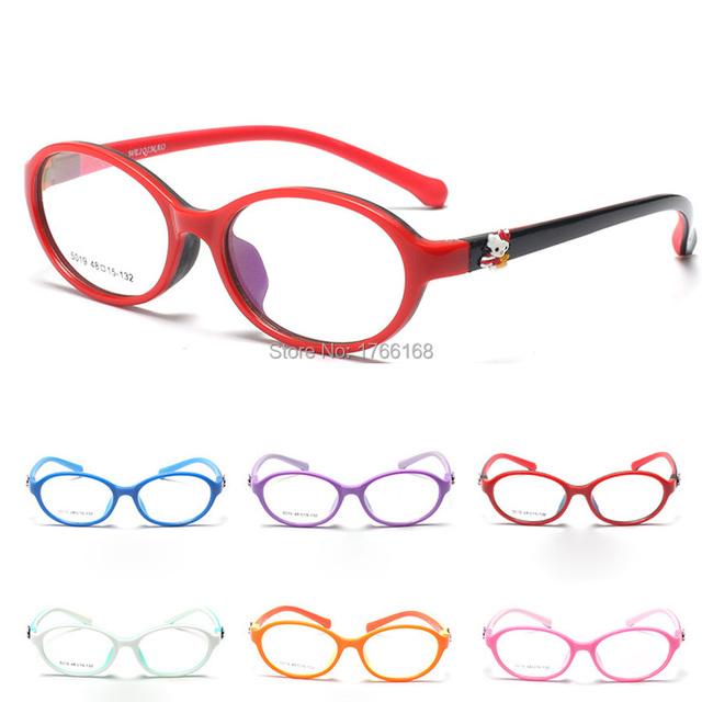 Nueva Lindo Niños TR90/Caucho Marco de Las Lentes de Alta Calidad Niños Niñas Seguro Gafas de Lectura Marcos Eyewear Óptico 5019 7 colores