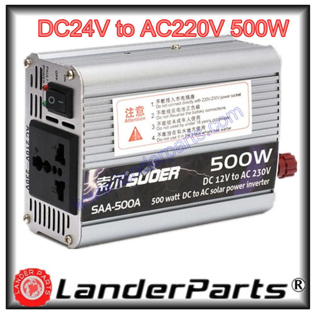 Suoer,500 Watt Inverter,24V Voltage to 220 V,500W,Watt,household ...