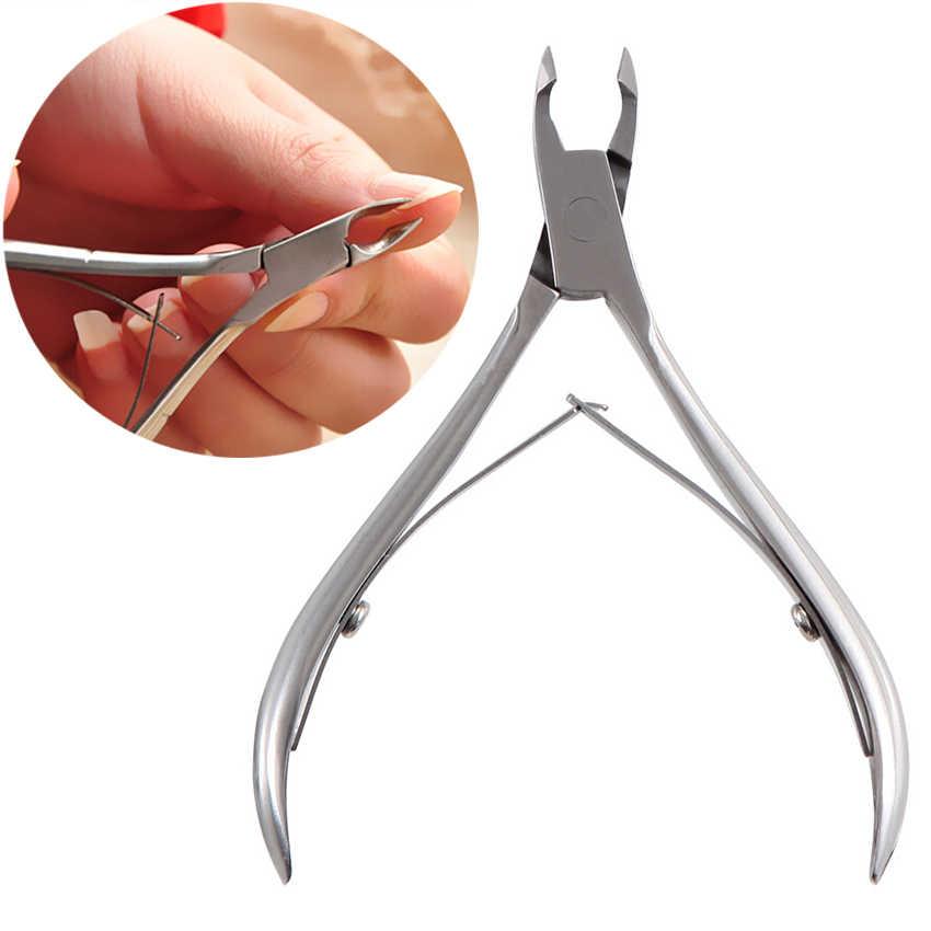Ensemble d'outils de manucure ciseaux à ongles tondeuse dissolvant de cuticules ongles cuticule poussoir pédicure incarné lime à ongles ongle poussoir correcteur
