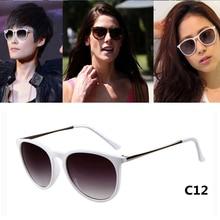 Gafas de Sol de moda Las Mujeres Oval Gafas Polarizadas UV400 Espejo Marco de Aleación de Metal Gafas Para Mujer Gafas de Sol Gafas Feminina