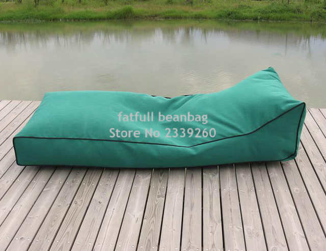 Cover Only No Filler Long Beach Bean Bag Chair Waterproof Beanbag Sofa Seat Outdoor Comfortable Lounger Beans