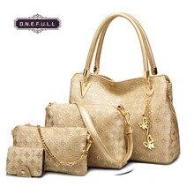 women mother bag shoulder handbag 4pcs set