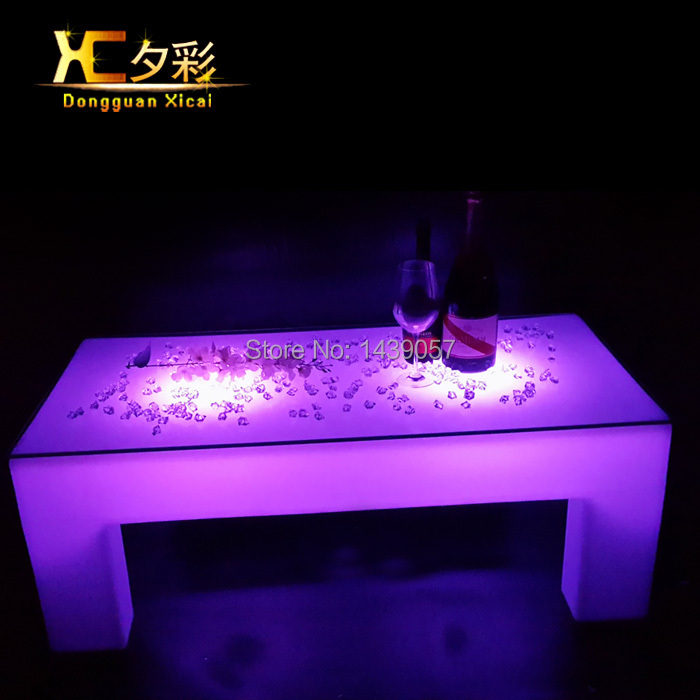 LED Bar Drinking Coffee Table Living Room Decoration Furniture Glass End Table Plastic Luminous Color Changing Desk led luminous bar table plastic color changing coffee dining room garden drinking tables