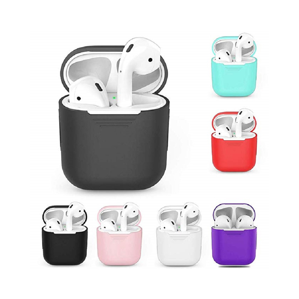 Image 2 - Buyruo Wireless Bluetooth Earphone Case For Apple AirPods Silicone Charging Headphones Cases For Airpods Protective Cover-in Earphone Accessories from Consumer Electronics