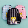 Women Sailor Moon Canvas Backpack School Bags For Boys High School Students Shoulder Bag Casual Travel Bag Men Bag Rucksack