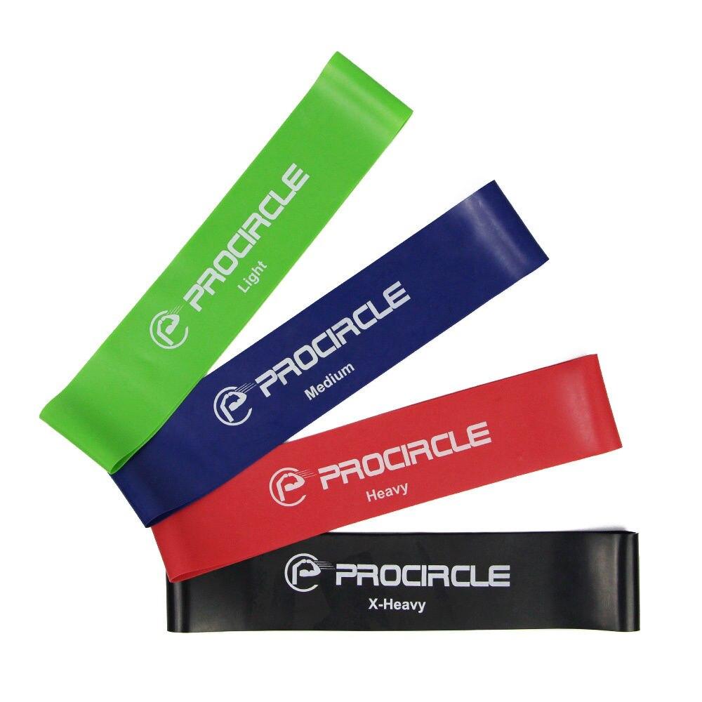 PROCIRCLE 4PCS Resistance Loop Bands Set Latex Exercise