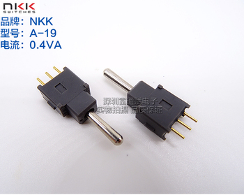 Japan NKK button switch A-19 shake head switch 3 feet side is the gear, side is reset