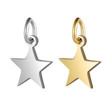 5 шт./лот Полированные Подвески из нержавеющей стали в форме звезды для DIY ювелирные изделия, изготовление браслетов ожерелья Аксессуары