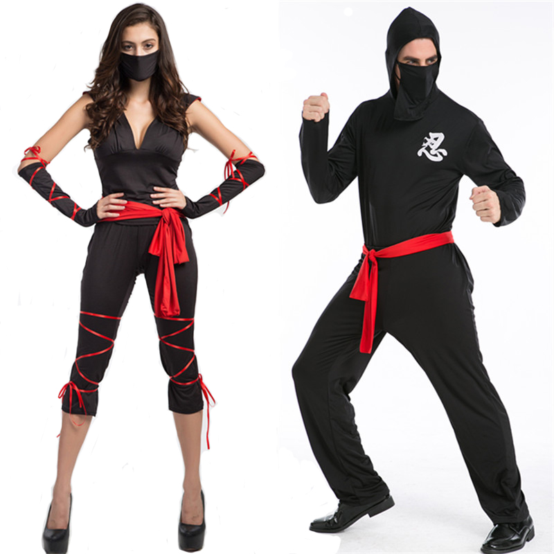 adult black ninja deadpool cosplay costume sexy halloween. Black Bedroom Furniture Sets. Home Design Ideas