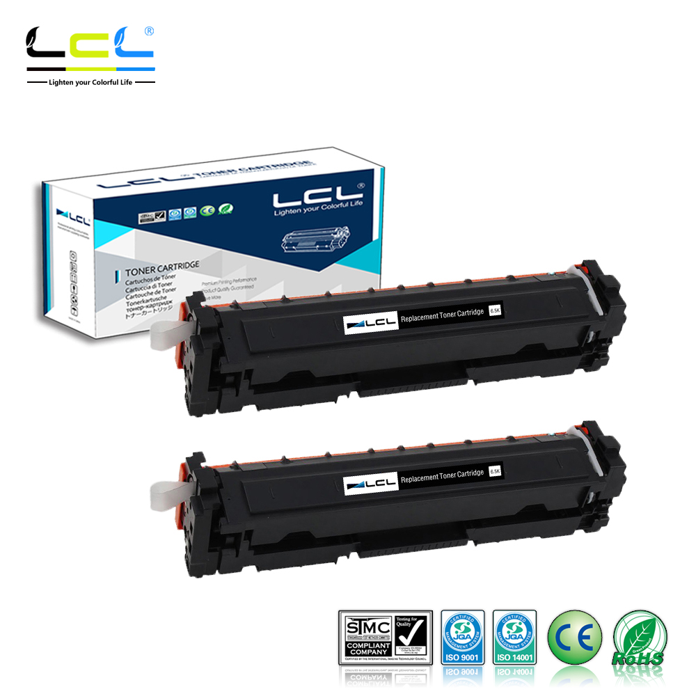 LCL 410A 410X CF410A CF410X CF410 (2-Pack Black) Toner Cartridges Compatible for HP Color LaserJet Pro M452dn/M477fdw/M477fnw toner reset chip for hp color laserjet enterprise m477fdw m452dn m477 m452 laser printer cartridge chip cf410x cf 410 cf410
