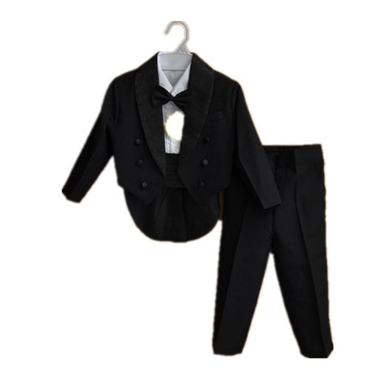 BBWOWLIN Formal Tuxedo Suit Baby Boy Christmas Clothes for 3 - 9 Years Boy White Black Gentleman Infant Clothing Onesie 70774