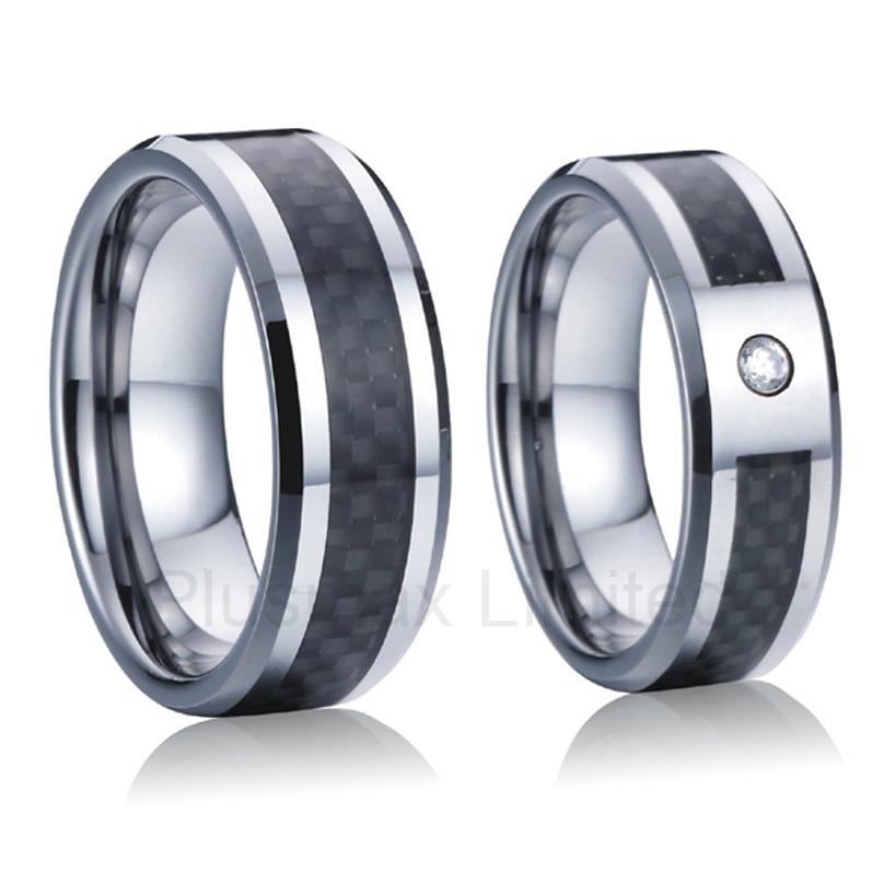 anel masculino classic custom black carbon fiber titanium wedding band rings for men and women