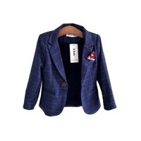 Kids Blazer for Boys Plus Velvet Wedding Suits for Boys Thicken Warm Single Breasted Boys Jacket Toddler Baby Little Boy Suits