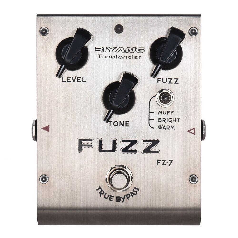 BIYANG FZ-7 Tonefacier série 3 Modes Fuzz effet guitare pédale True contournement complet métal coque guitare pédale