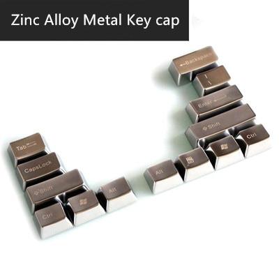 1 Piece Zinc Alloy Metal Keycap Mechanical Keyboard Big Keys Metal Cap Enter Capslock Backspace Shift Alt Tab Keycap