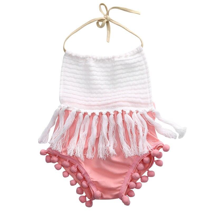 Для новорожденных боди модные летние без рукавов 2018 Повседневная кисточки лоскутное комбинезон для девочек наряд От 0 до 2 лет детская одежд...