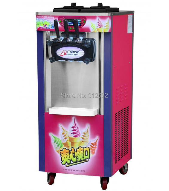 25-30L /h Hottest 3-color soft ice cream machine,  manufacturer icecream maker machine