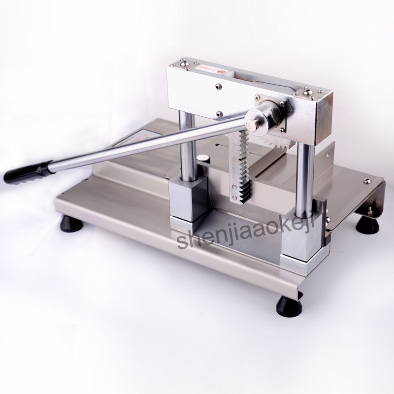 ST700 Stainless Steel manual Cutting machine home use meat cutting machine cutting bone ribs machine pig's trotters 1pc