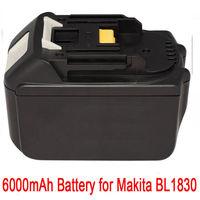 GTF 18V Battery For Makita 6 0AH BL1860 BL1840 BL1830 BL1815 LXT Lithium Ion