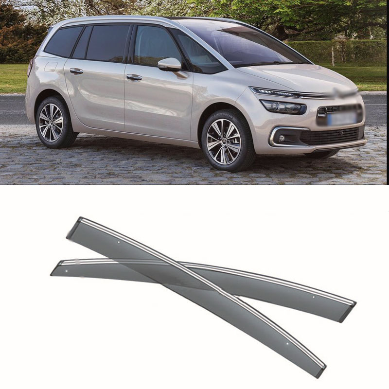 New 4pcs Blade Side Windows Deflectors Door Sun Visor Shield For Citroen C4 Grand Picasso 7 seats 2017 4pcs blade side windows deflectors door sun visor shield for toyota verso ez 2011 2014