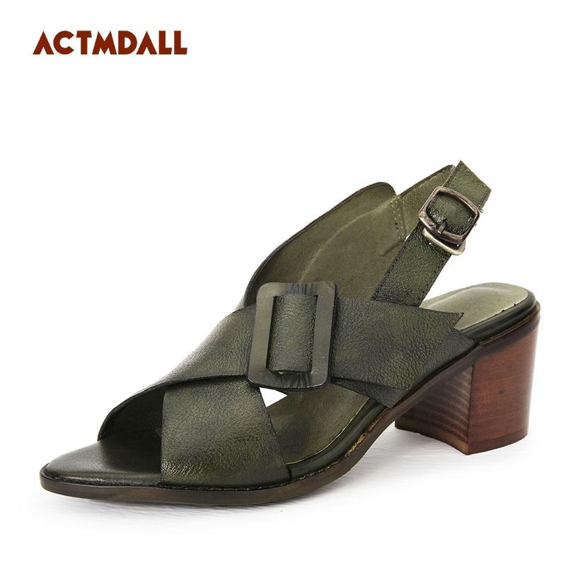 Здесь можно купить  2018 summer new style gladiator sandals genuine leather comfortable fish mouth fashion leather women