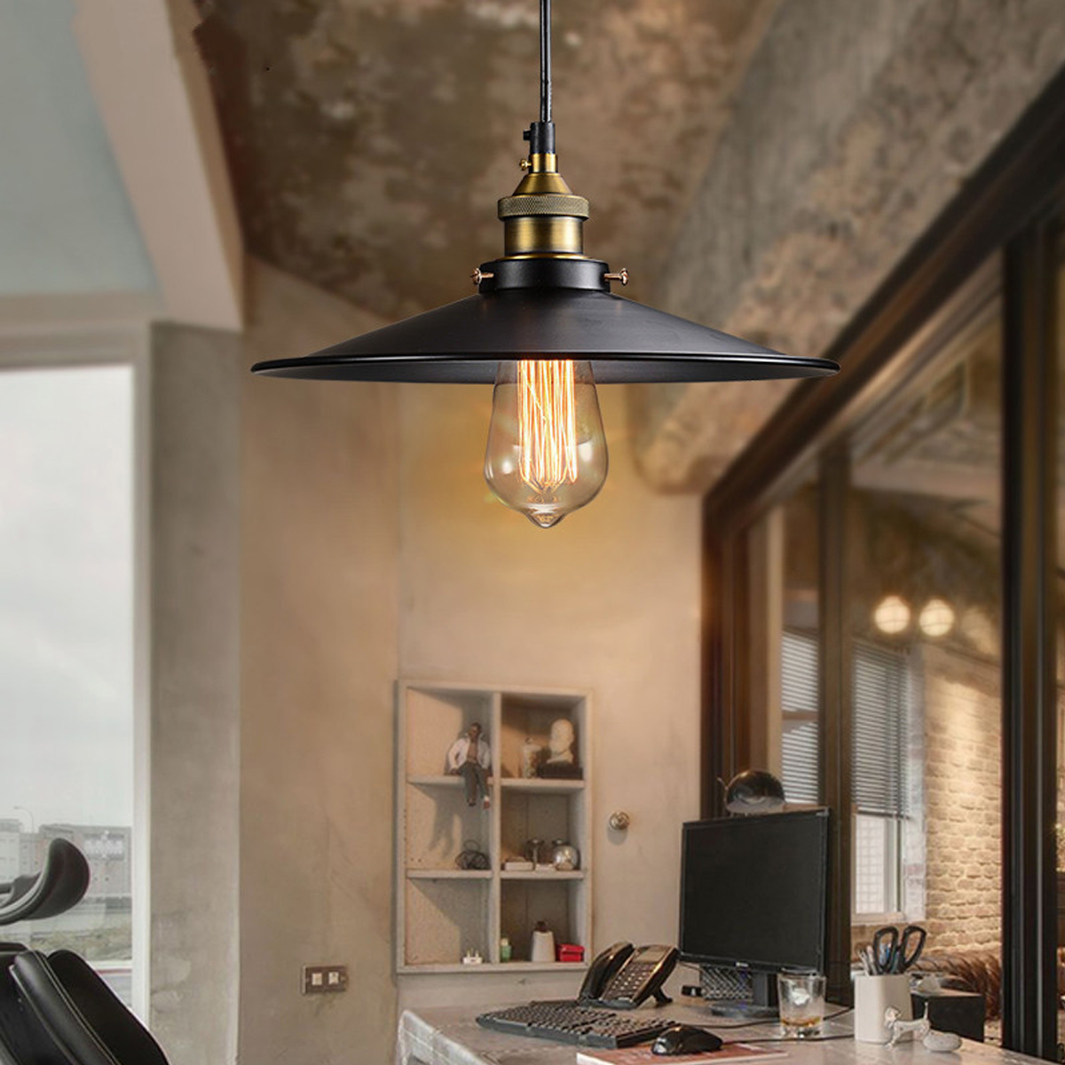 26cm Loft Vintage Ceiling Lamp Retro Industrial Chandelier Fixture For Cafe Restaurant Bar American Style Metal Light Ceiling Lights Aliexpress