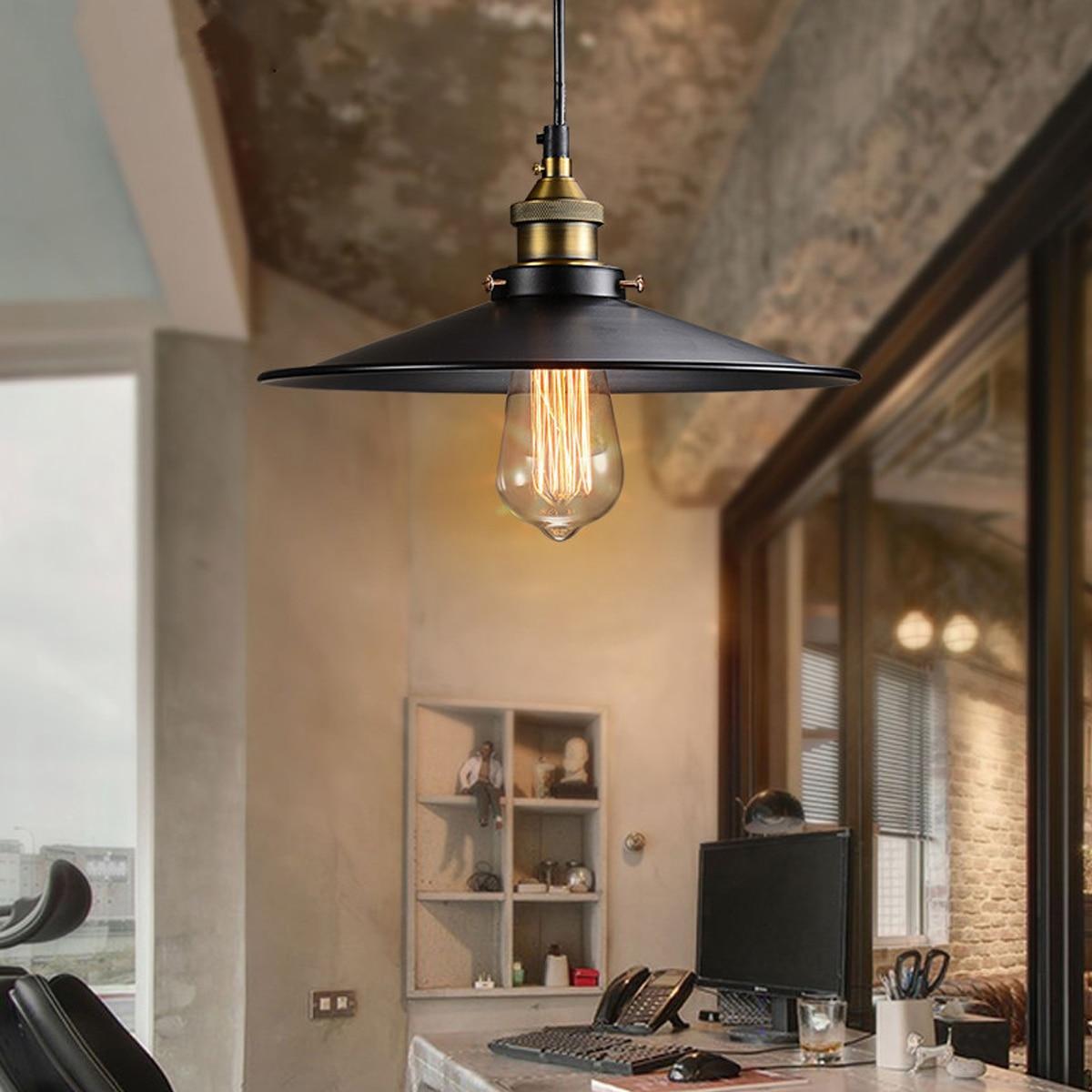 26cm Loft Vintage Ceiling Lamp Retro Industrial Chandelier Fixture For Cafe Restaurant Bar American Style Metal Light Ceiling Lights Aliexpress