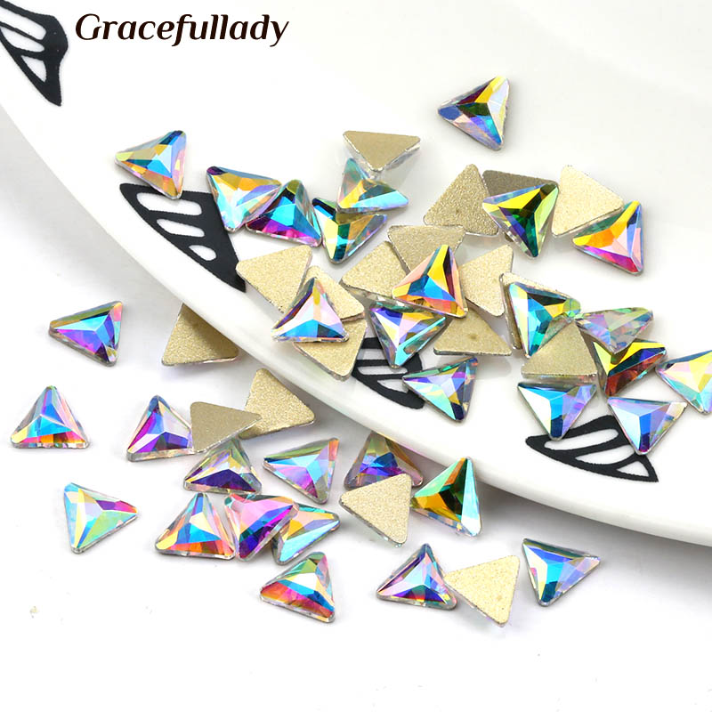 36 Pcs Colorful Nail Rhinestone Snow Star Flat Back Strass Rs