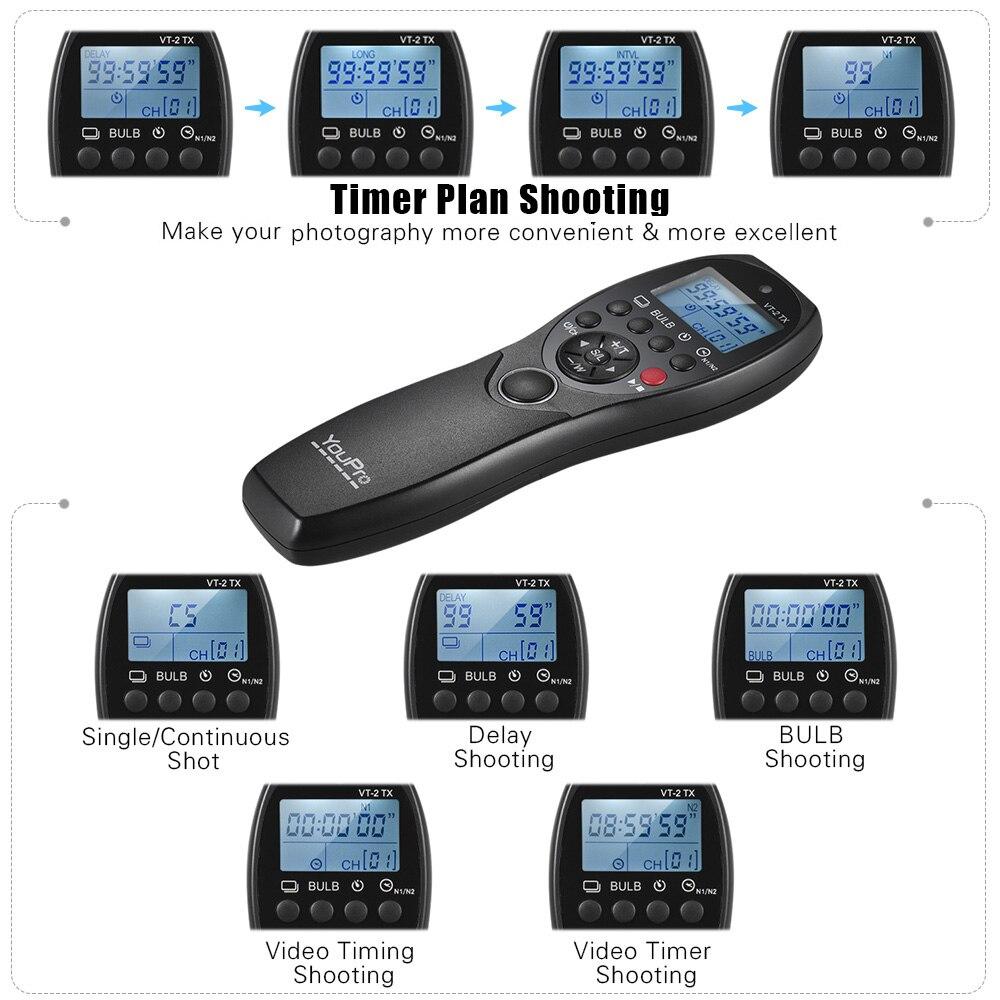 Image 4 - YouPro VT 2 Wireless Remote Control Commander LCD Timer Shutter  Release Video Transmitter Receiver for Sony Camera Camcordershutter  releasetimer shutterlcd timer