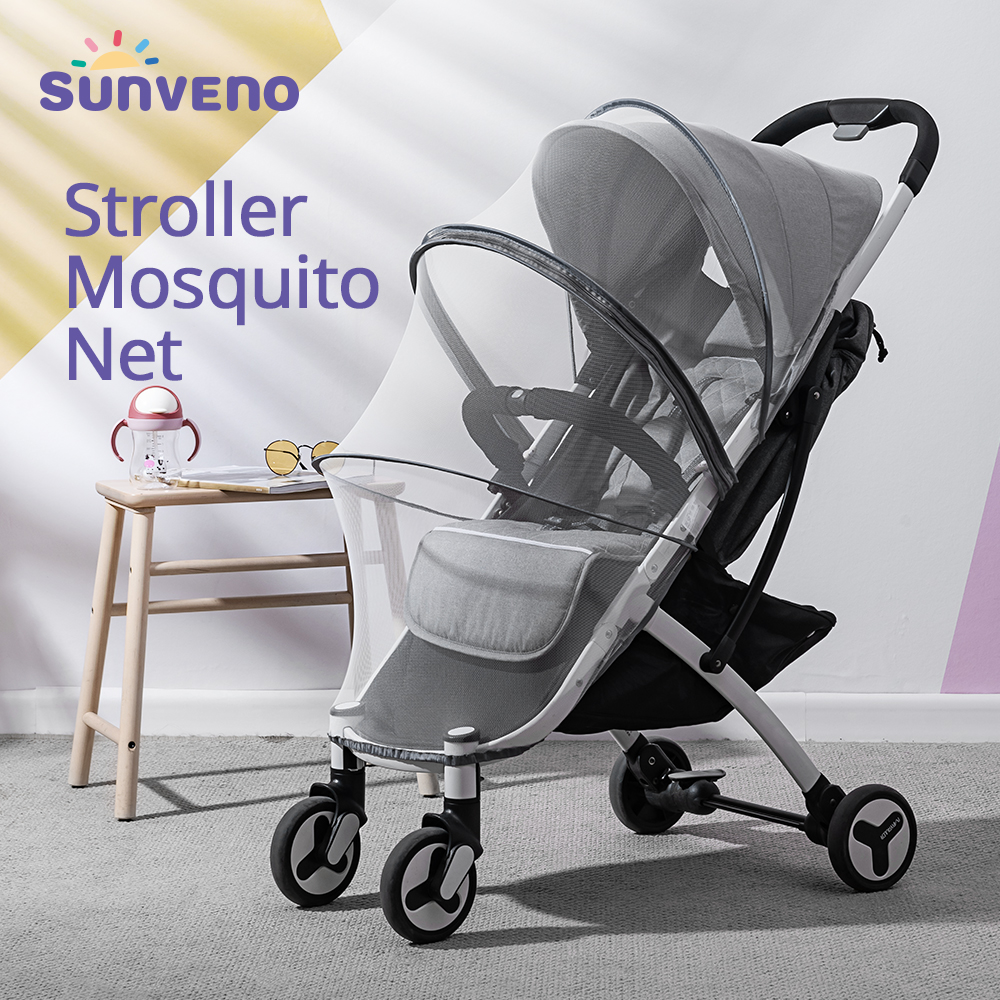 Sunveno Baby Accessories Stroller Accessories Baby Stroller Mosquito Bug Net Insect Netting Cover Safe Infants Protection Mesh