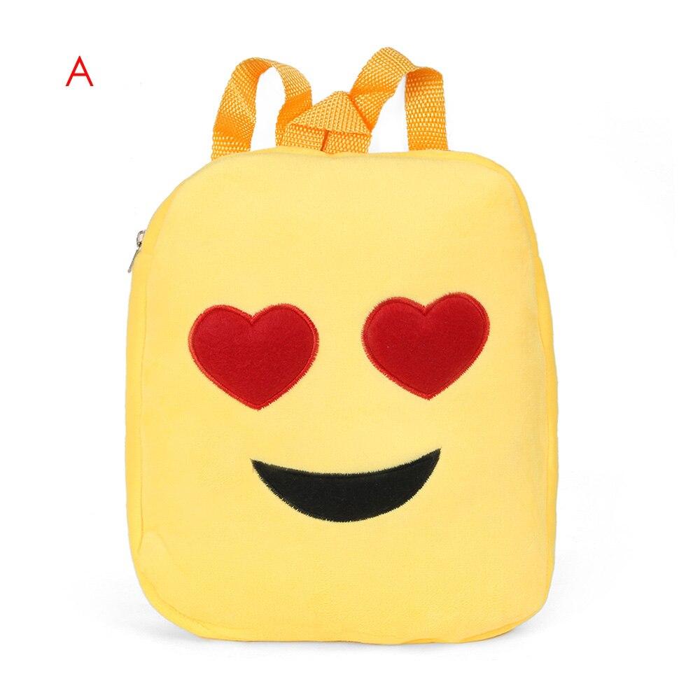 1 StÜck Funny Emoji Rucksack Mode Jungen Mädchen Smiley Nettes Mädchen Satchel Schultern Schultasche Heißer Neuer Geschenk 2017 Neue Beliebte Auf Der Ganzen Welt Verteilt Werden