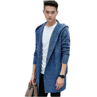 Thintenda Sweaters Men 2017 Fashion Mens Hooded Cardigan Sweater Jacket Coats Winter Thick Warm Knitted Cardigan Longo Masculino