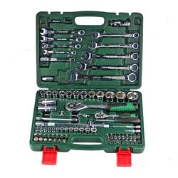 82pcs catraca torquímetro 1/2 set auto repair kit mão caixa de ferramentas para o carro de um conjunto de chaves ferramenta chaves ferramentas DN105R llave