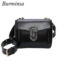 Burminsa Marke Kleine Klappe Umhängetaschen Breiten Gurt Frauen Messenger Bags Designer-handtaschen Hoher Qualität PU Leder Umhängetaschen