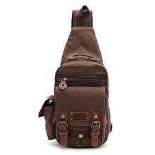 Classic Belt Ornament Men's Trendy Leisure Chest Pack Fashion Portable Travel Bag High Quality Canvas Sling Pack Men Chest Bag стоимость
