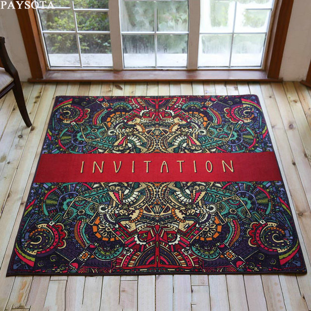rug on carpet living room contemporary paysota gothic antiskid carpet living room bedroom rug fashion square mats coloured drawing pattern anti skid