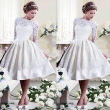 New Design Boat Neck Short Wedding Dresses 2017 Lace Appliqued Backless Vintage Wedding Gowns China Online Shop