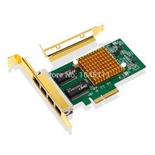 New DIEWU I350-T4 PCI-E x4 Intel i350T4 4-Port 1000Mbps Gigabit LAN Server Network Adapter Ethernet Card NIC