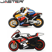 JASTER Cartoon motorcycle usb flash drive 64GB 32GB 16GB 4GB real capacity memory stick motorbike pen drive lovely gift pendrive