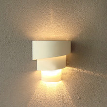 Modern Fashion Indoor White Wall Lamps Bedroom Bedside Curved White Wall Sconce Lighting Lamp Living Room Hallway Wall Fixture(China)