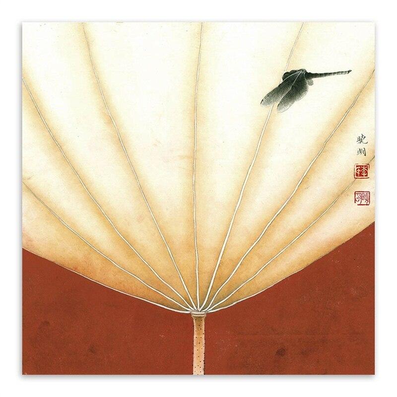 Asiatische Bilder Auf Leinwand mantis libellen auf der lotus blätter zeichnung asiatischen