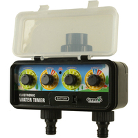 3 145 Psi Solar RainStop Electronic Water Timers With Rain Sensor Function 2 Outlets Adopt Solenoid