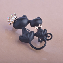 Hijab Brooches Pin With Mother Daughter Cat