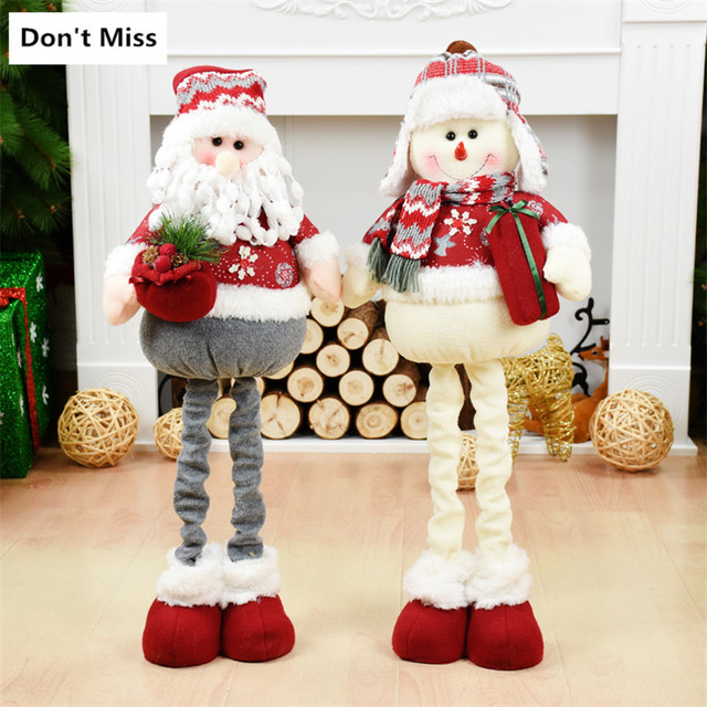 Natal Christmas Gift Cloth Santa Claus Snowman Dolls Big Size Xmas