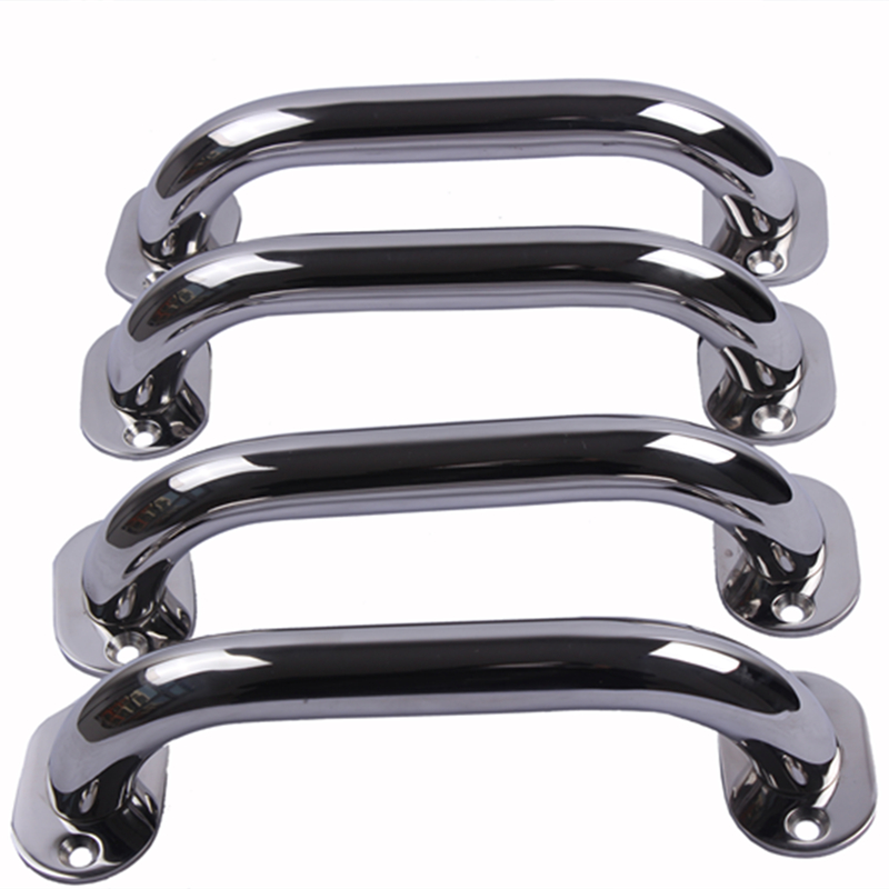 4 Pieces New Arrival Stainless Steel 9'' Boat Polished Boat Marine Grab Handle Handrail Boat Accessories Marine