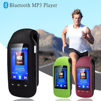 new New Metal Bluetooth Sport MP3 Player Portable Audio 8GB Clip with Built in Speaker FM Radio APE Flac Music Player