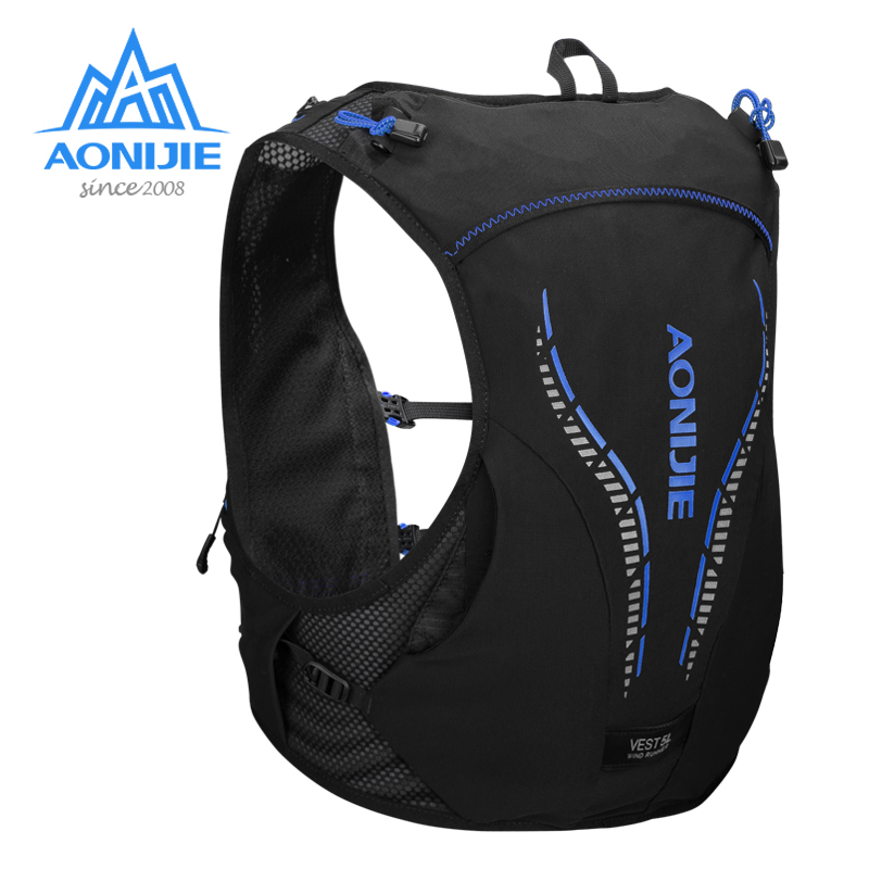 AONIJIE 5L Backpack Hydration Breathable Lightweight Vest Harness Water Bladder Hiking Running Marathon Race Camping Hiking C950