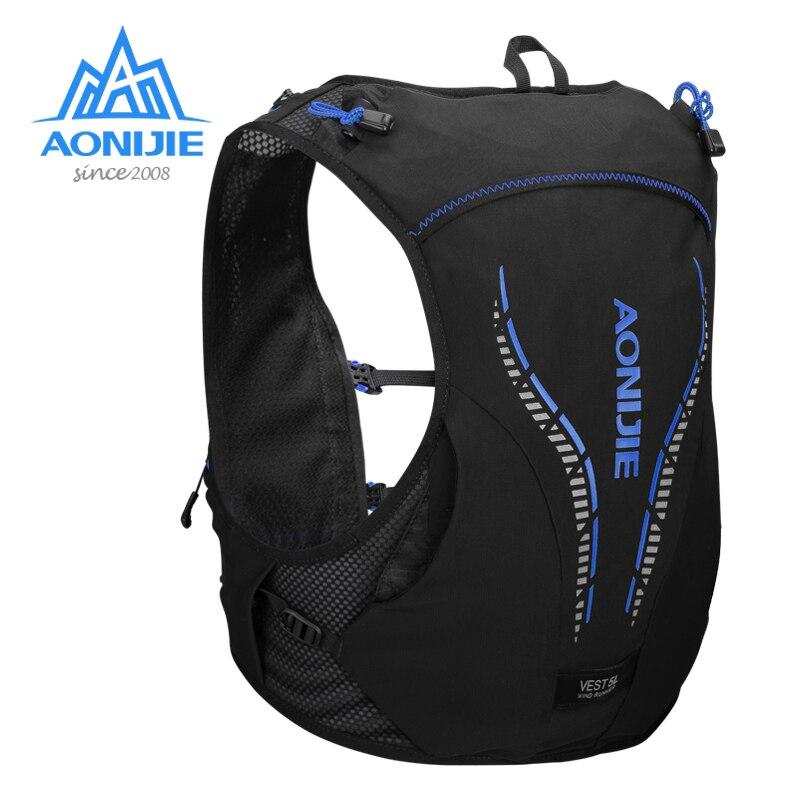 Aonijie c950 5l avançado pele mochila pacote de hidratação saco colete água bexiga caminhadas correndo maratona corrida